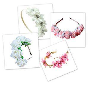 Diferentes modelos de diademas de flores