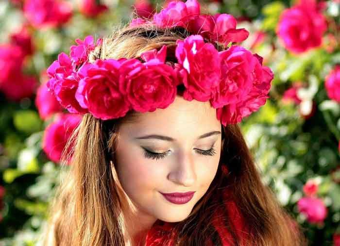 corona flores para el pelo