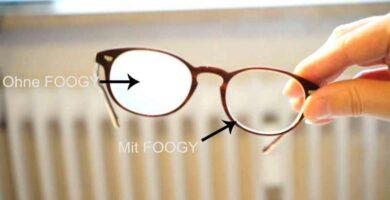 Efecto de aplicar la gamuza anti vaho en unas gafas
