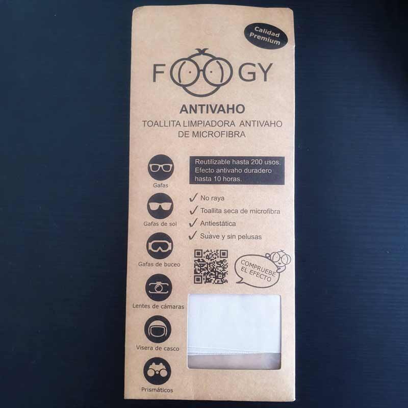 información paño antivaho foogy caja